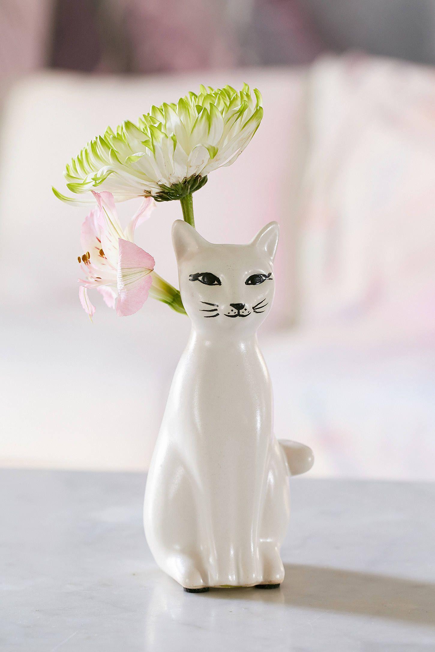 Slide View: 1: Vase im Kätzchendesign