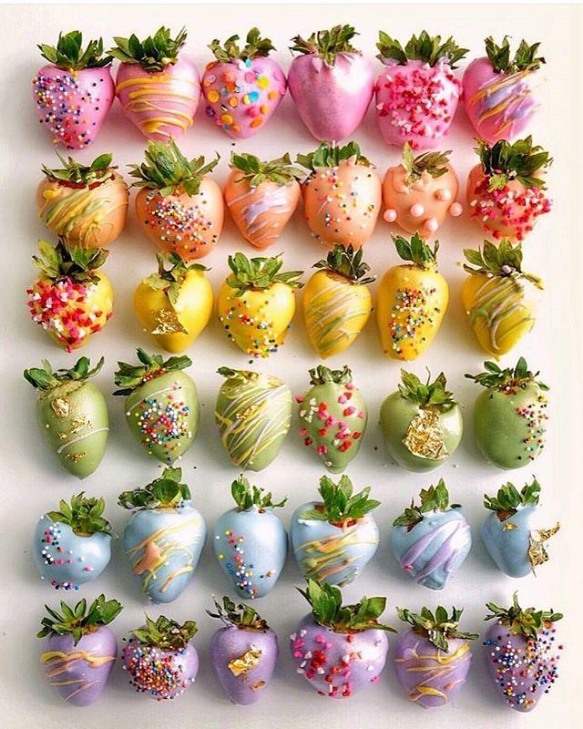 Homemade Rainbow Chocolate Dipped Strawberries Recipe ... |Rainbow Chocolate Covered Strawberries