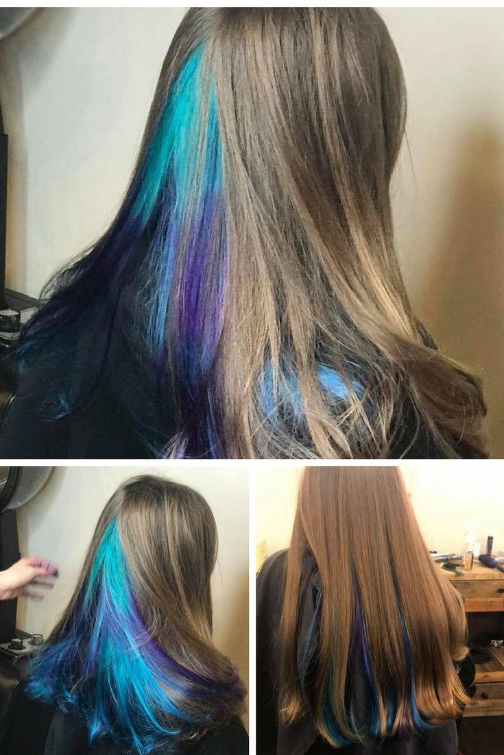 Mermaid hair, colored hair ideas, colored hair crazy, tween, hair ideas, popular women's hairstyles,colored pastel hair, hair color, for her, crazy, for fair skin, unique, 2017, 2018, purple, blue, aqua