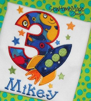 Out of this World Birthday Shirt  Rocket by SewHomeMadeDesigns, $23.00