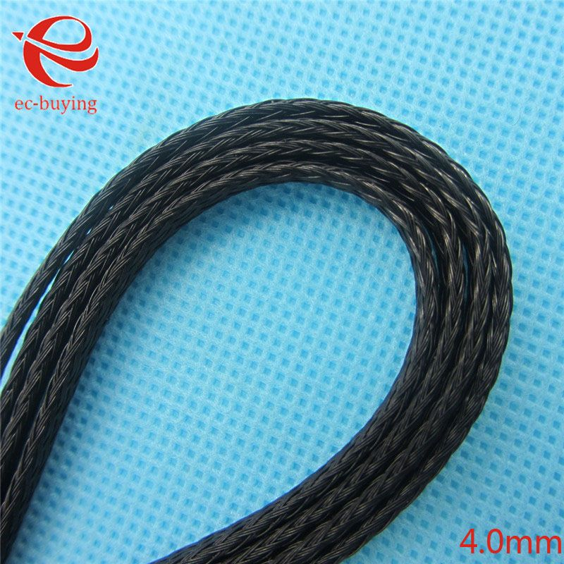 10M 4mm Braided Cable Sheathing Auto Wire Harnessing Black Marine ...