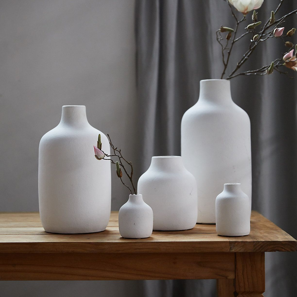 Matte Terracotta Vase Wide Mouth Terrain White Vase Decor Large Ceramic Vase White Ceramic Vases