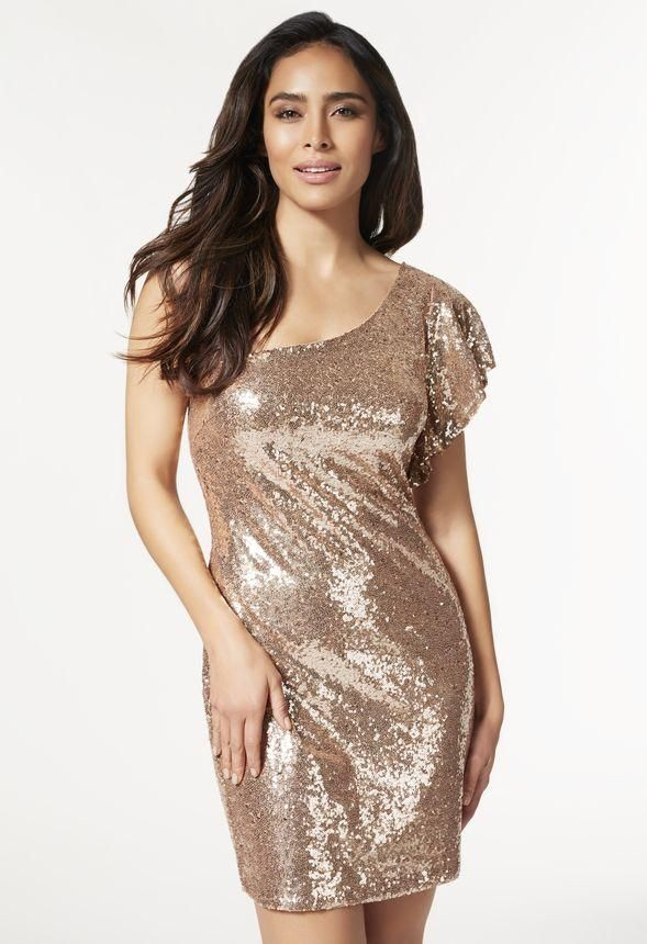 Get into the festivities with this sequin dress that will have you dancing on the dancefloor.  l  JustFab