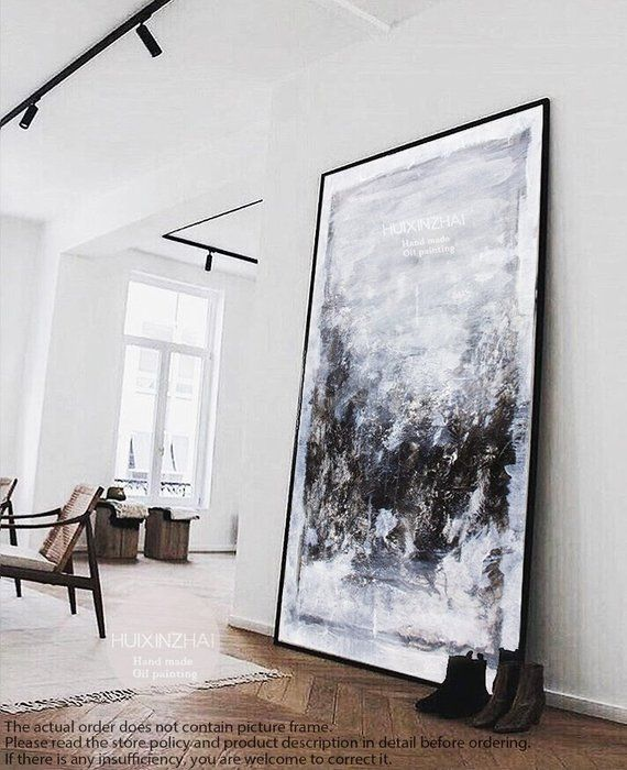 Extra Large Wall Art Abstract Painting Gray Painting Black Etsy Extra Large Wall Art Large Canvas Art Large Wall Art