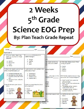 2 Weeks 5th Grade Science EOG Prep | Force & Motion | 5th