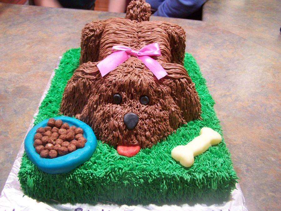 3d Puppy Dog On Cake Central Cakes Pinterest Cake Dog Cakes