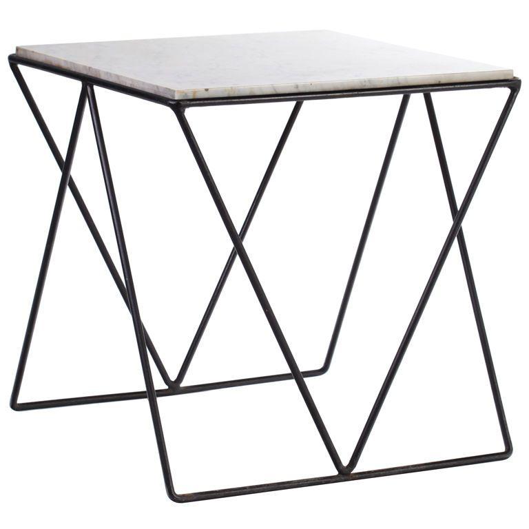 Italian Geometric Iron and Marble Table | Mesas jardin, Mesas y Jardín