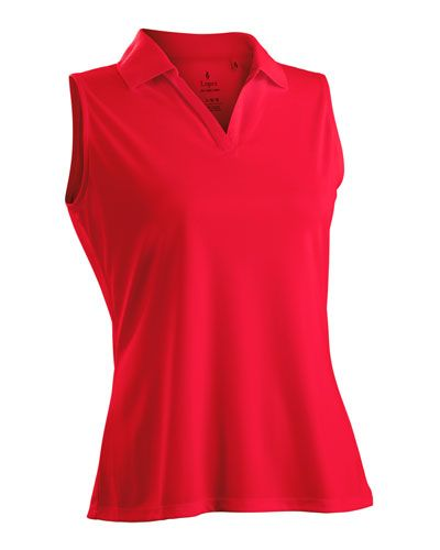 df9a04bce0294 Coral Nancy Lopez Ladies   Plus Size Sleeveless Golf Shirts (Luster)! Find  more awesome golf apparel at  lorisgolfshoppe