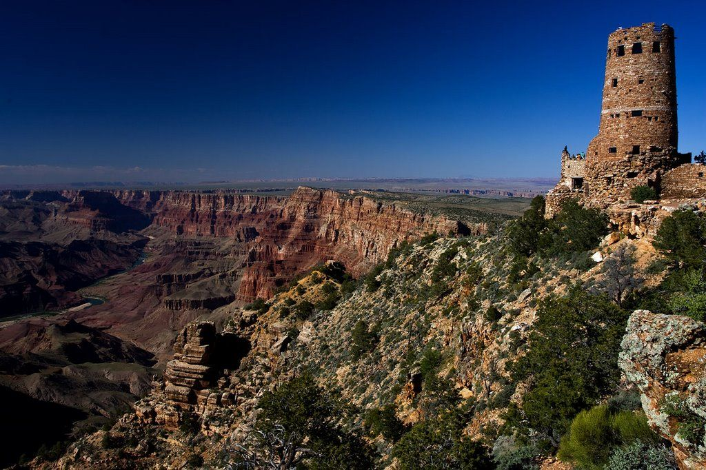 Desert View Watchtower Great View Of Grand Canyon Desert View