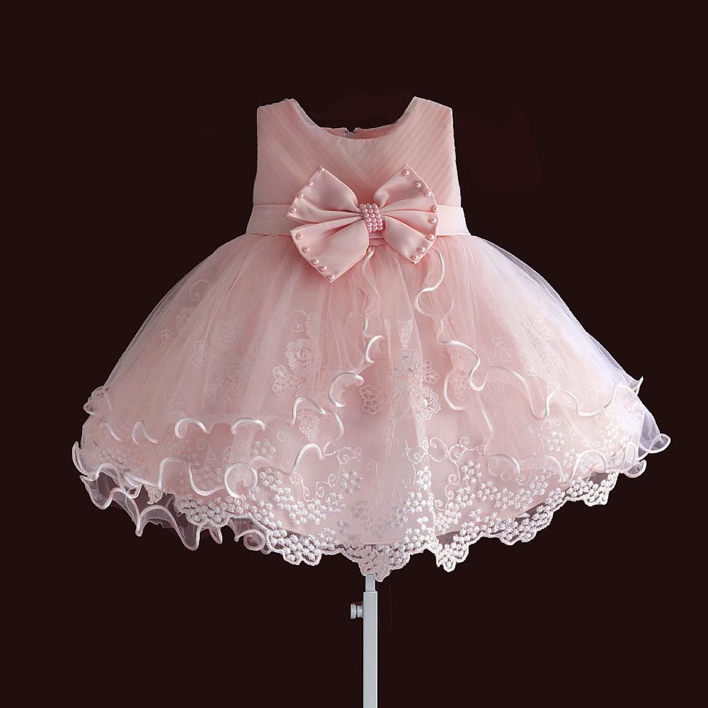 4195d615ef5d Elegant Little Girl s Pearl Bow Party Dress