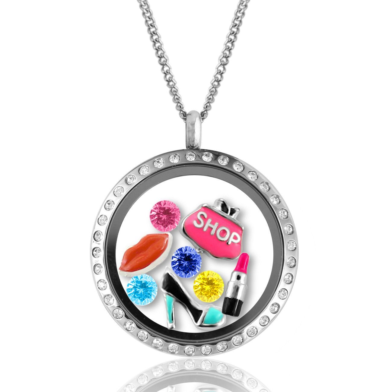 locket mom grandma charms lockets friend and pin floating friends