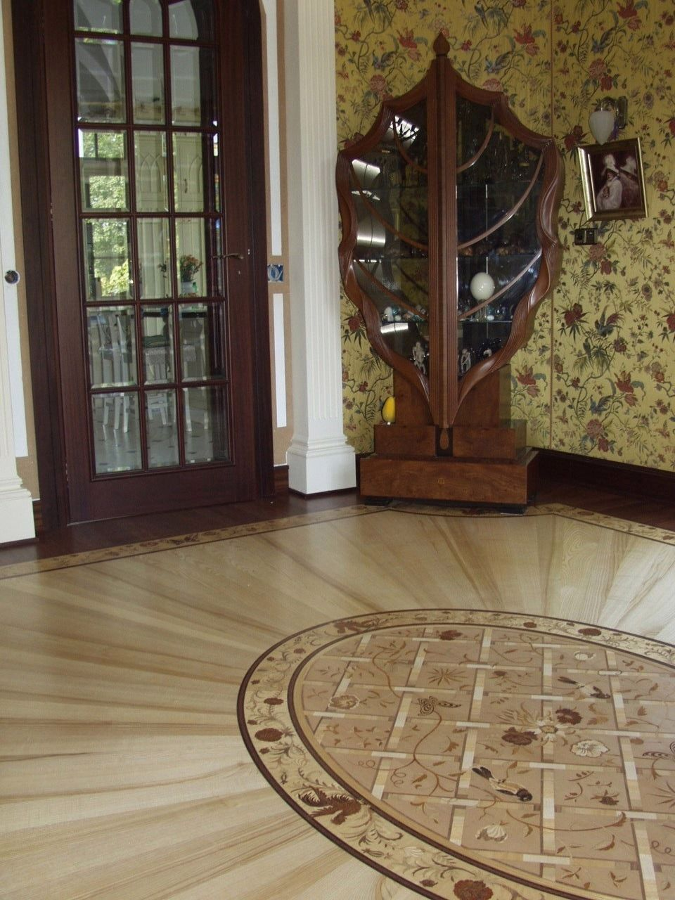 Custom Basket Weave Medallion Design By Renaissance Floor Inlays