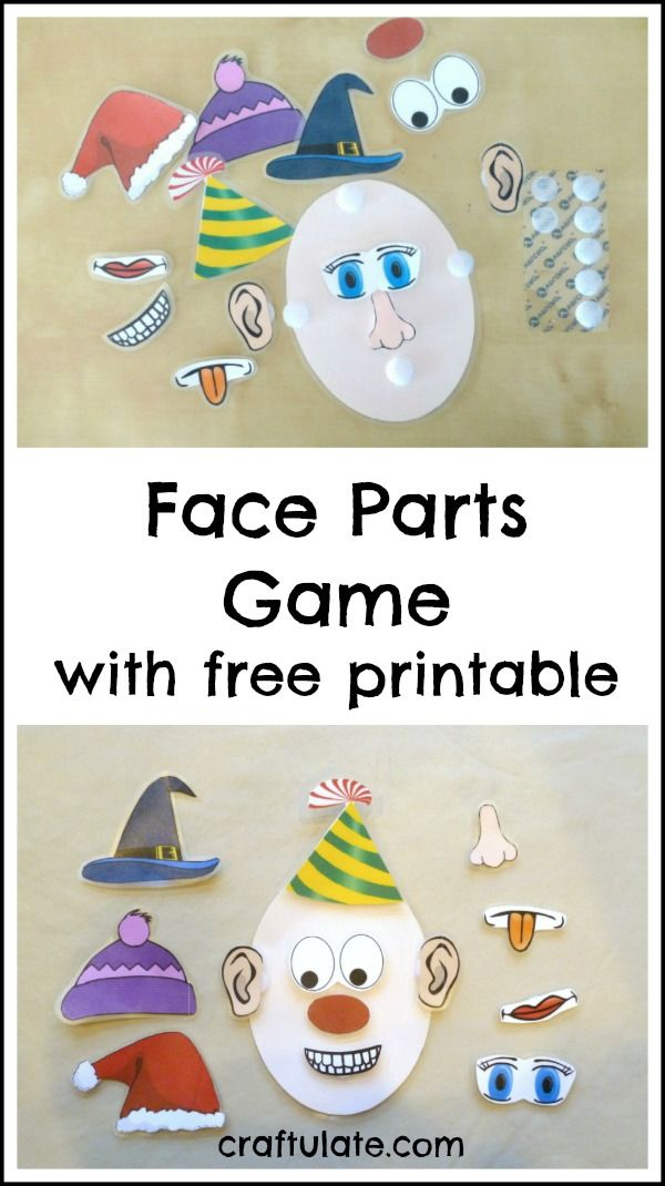 Little kids will love this face parts game Get the free printable!