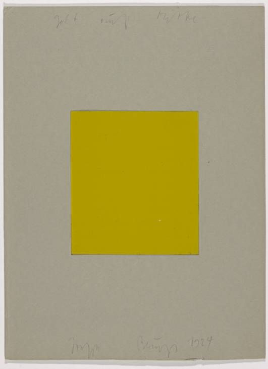 Joseph Beuys. Yellow on Centre, 1984.