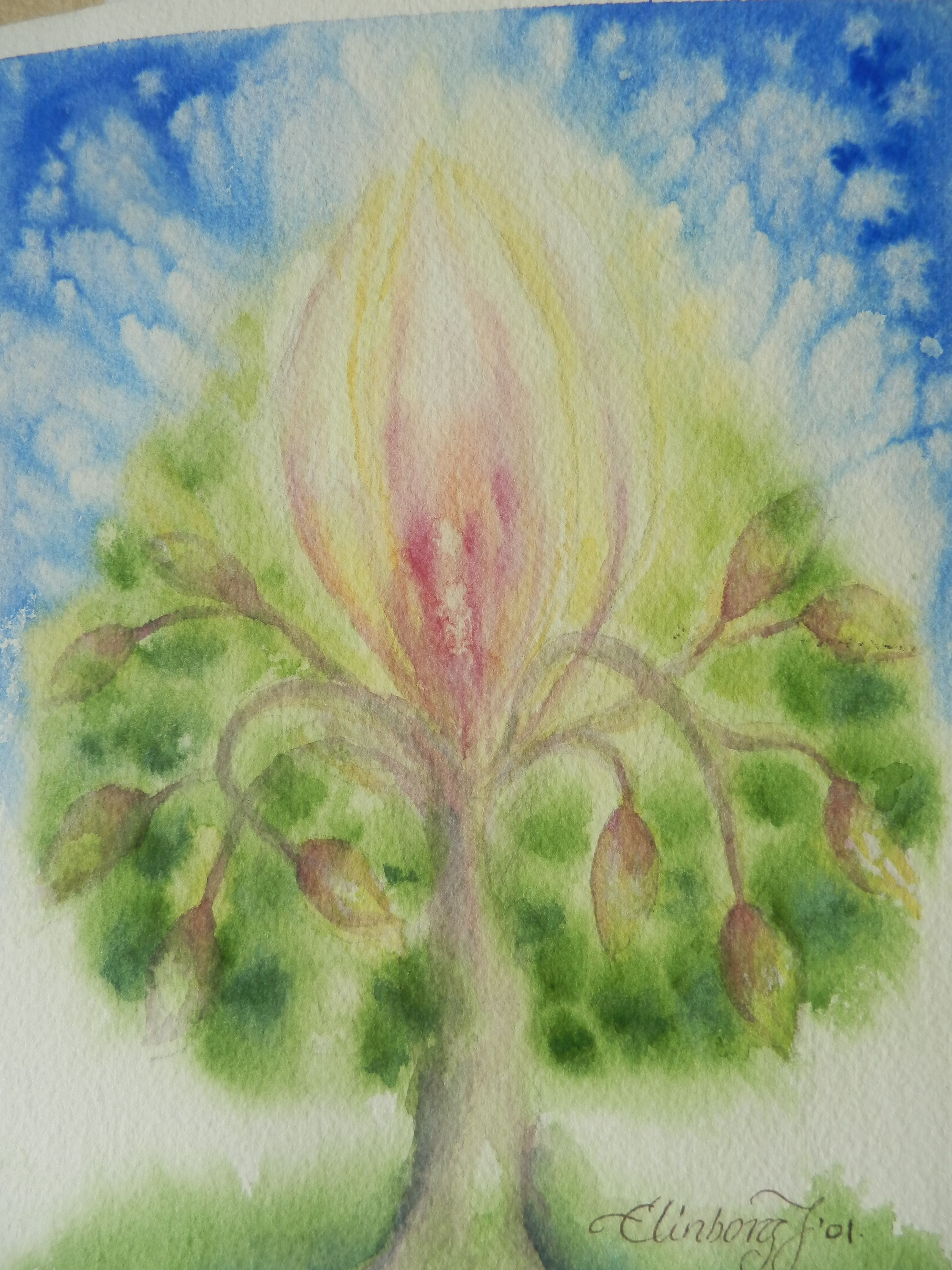 watercolor...Elinborg Jonsdottir my first tree of life | Tree of ...
