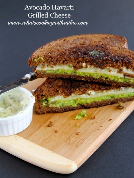 Avocado Havarti Grilled Cheese is a delicious twist on a classic sandwich by www.whatscookingwithruthie.com #recipes #sandwich #avocado