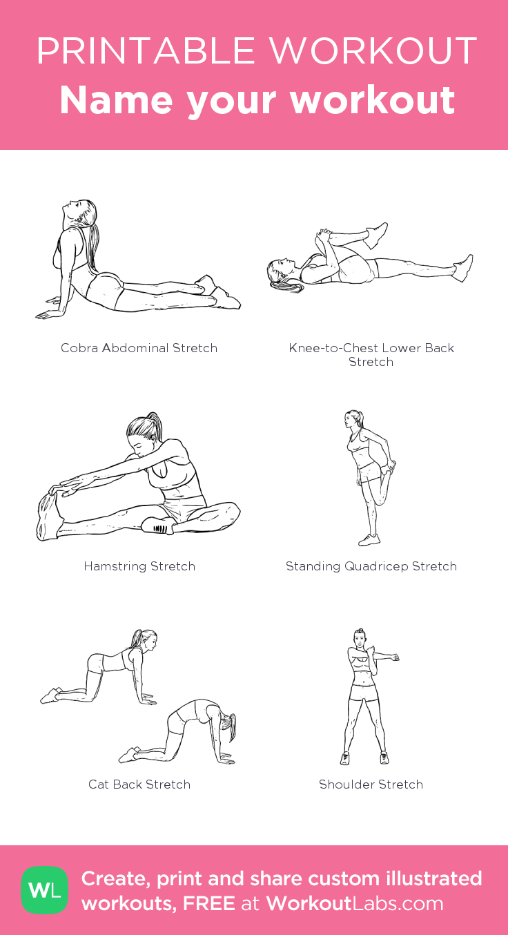 Name your workout: my custom printable workout by