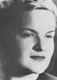 Erika von Brockdorff - (29 April 1911 – 13 May 1943) was a German resistance fighter against the Nazi régime during the Second World War. Brockdorff belonged to the Red Orchestra resistance movement. On the evening of 13 May 1943, she was put to death, by guillotine, along with thirteen other persons at Plötzensee Prison in Berlin.