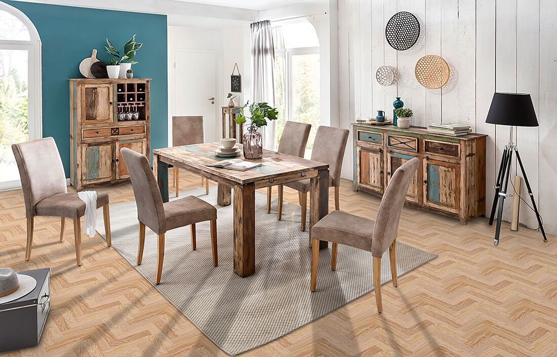 Fußboden Aus Holzdielen ~ Holzdielen aus roteiche mit dem wohnprogramm largo kombiniert. so