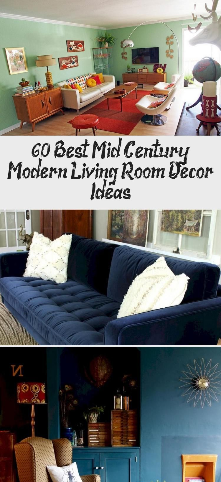 60 Best Mid Century Modern Living Room Decor Ideas