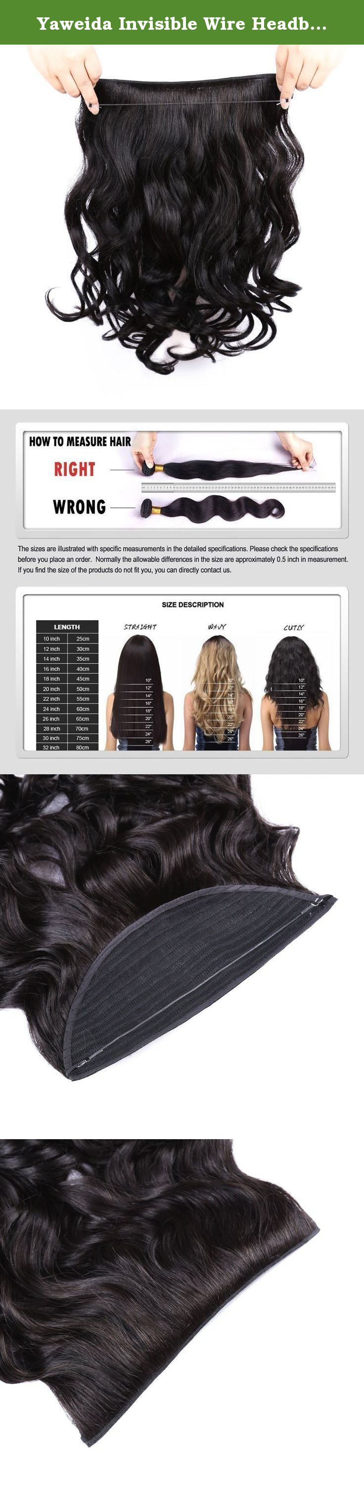 Yaweida Invisible Wire Headband Hair Extensions Unprocessed