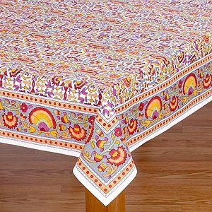 Superbe Leela Indian Tablecloth