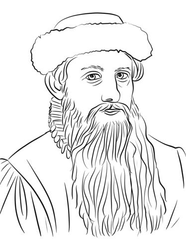 Malvorlagen Des Burgerkriegs Ausmalbild Johannes Gutenberg Ausmalbilder Kostenlos Zum Ausdrucken Druckbar Female Sketch Male Sketch Art