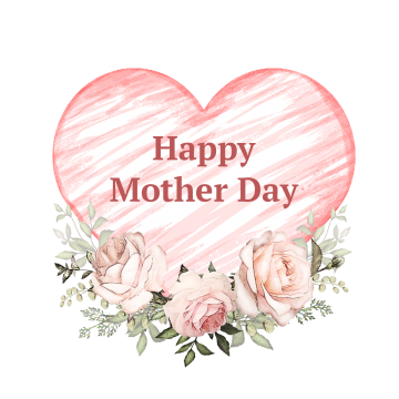 Mother Day Flowers With Heart Mothers Day Clipart Mother Day Mummy Png Transparent Clipart Image And Psd File For Free Download Mothers Day Card Template Mothers Day Flowers Mothers Day