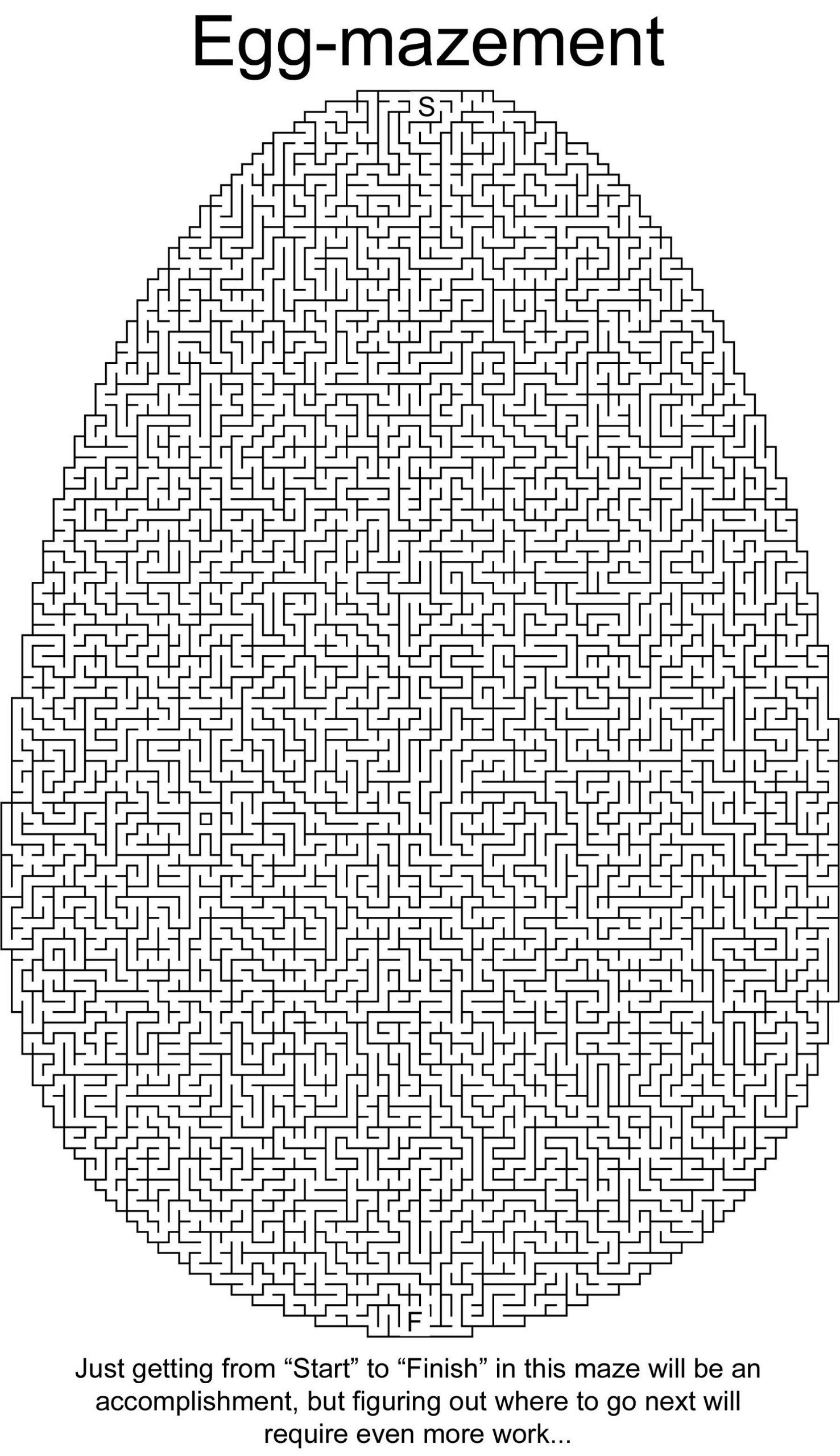 Free Printable Mazes For Adults In With Images
