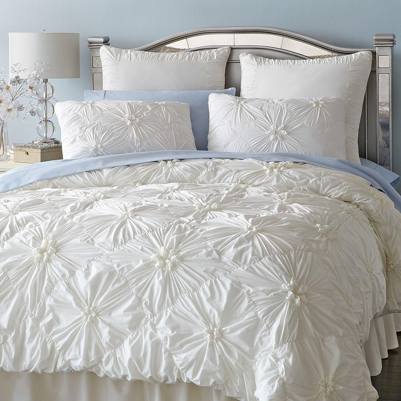 Savannah Ivory Duvet Cover & Sham Duvet bedding, Ivory