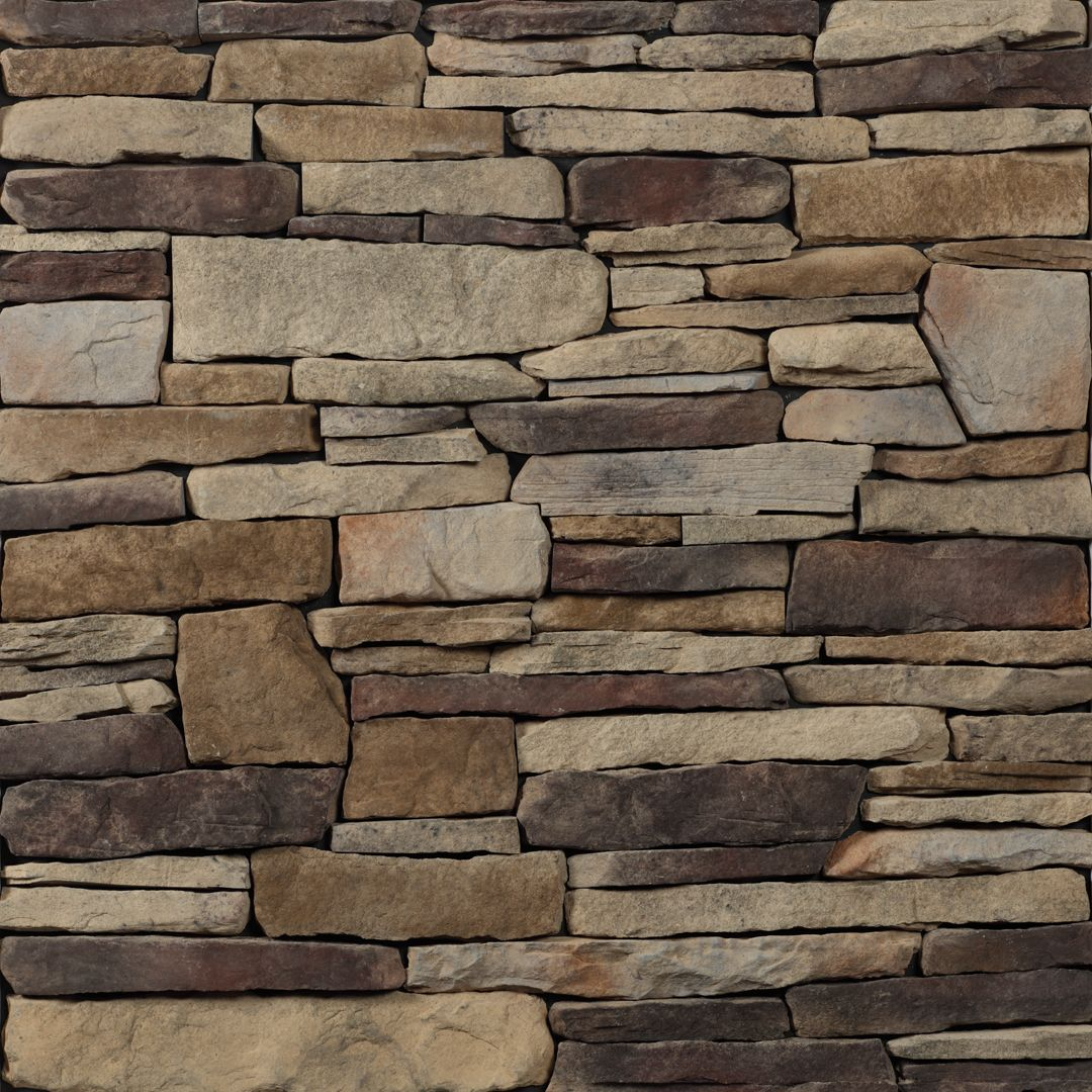 Glen gery landmark stone in the buckingham ledgestone for Manufactured veneer stone