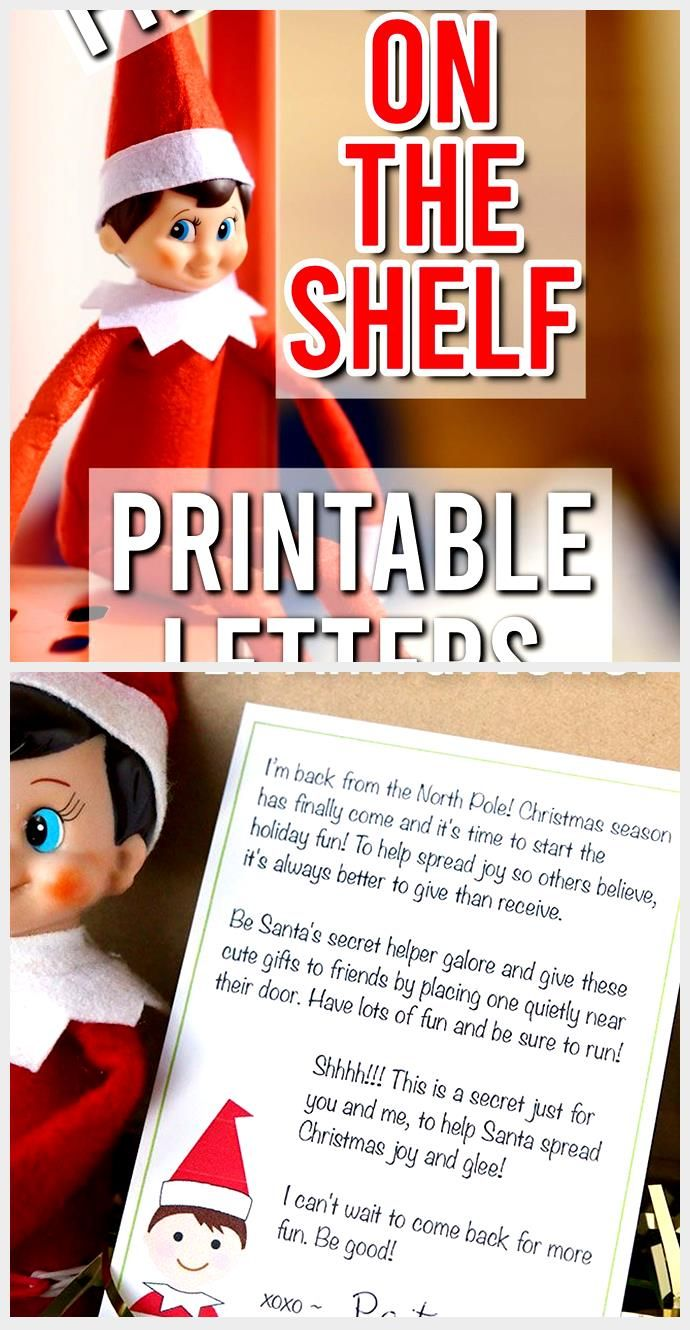 Free Elf on the Shelf Letter & Letterhead Parties Made