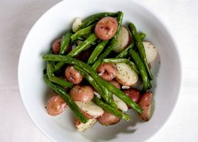 Rustic Red Potatoes and Green Beans - Quick Recipe