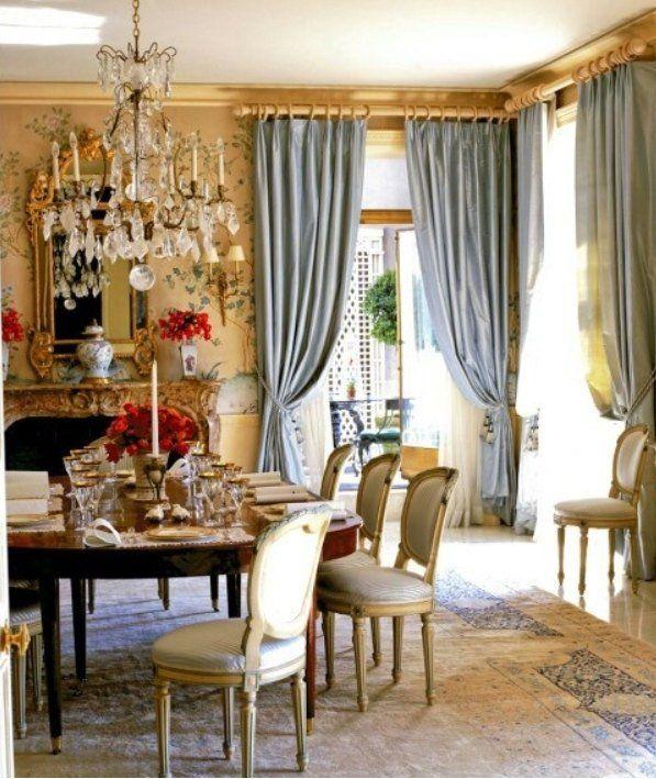 ROBINS EGG BLUE Silk Curtain Dupioni Silk Window Dressing