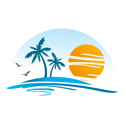 Beach Island Landscape Logo Png Image Download As Svg Vector Transparent Png Eps Or Psd Use This Beach I Artist Logo Graphic Design Logo Travel Agency Logo