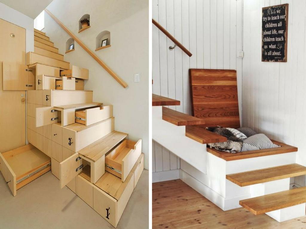 Almacenamiento bajo las escaleras la tienda home cama for Cama bajo escalera