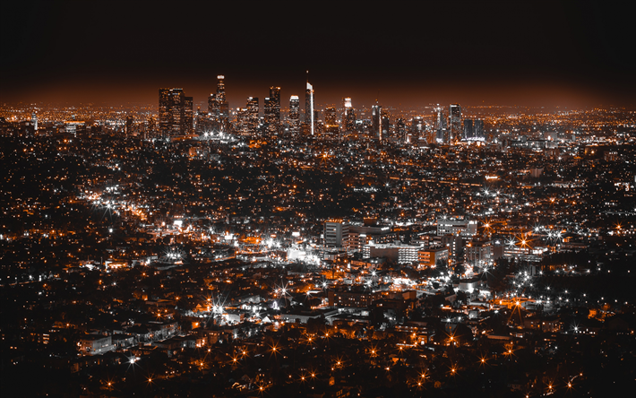 Scarica Sfondi 4k Los Angeles California Paesaggi Notturni Stati Uniti America Usa Los Angeles Wallpaper City Wallpaper Los Angeles