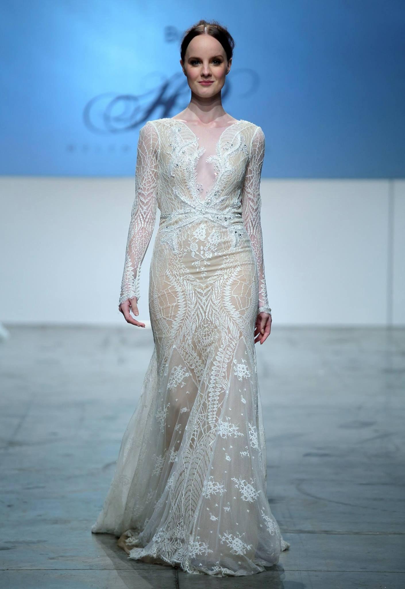 Inbal Dror on the runway at Australian Bridal Fashion Week 2016 ...