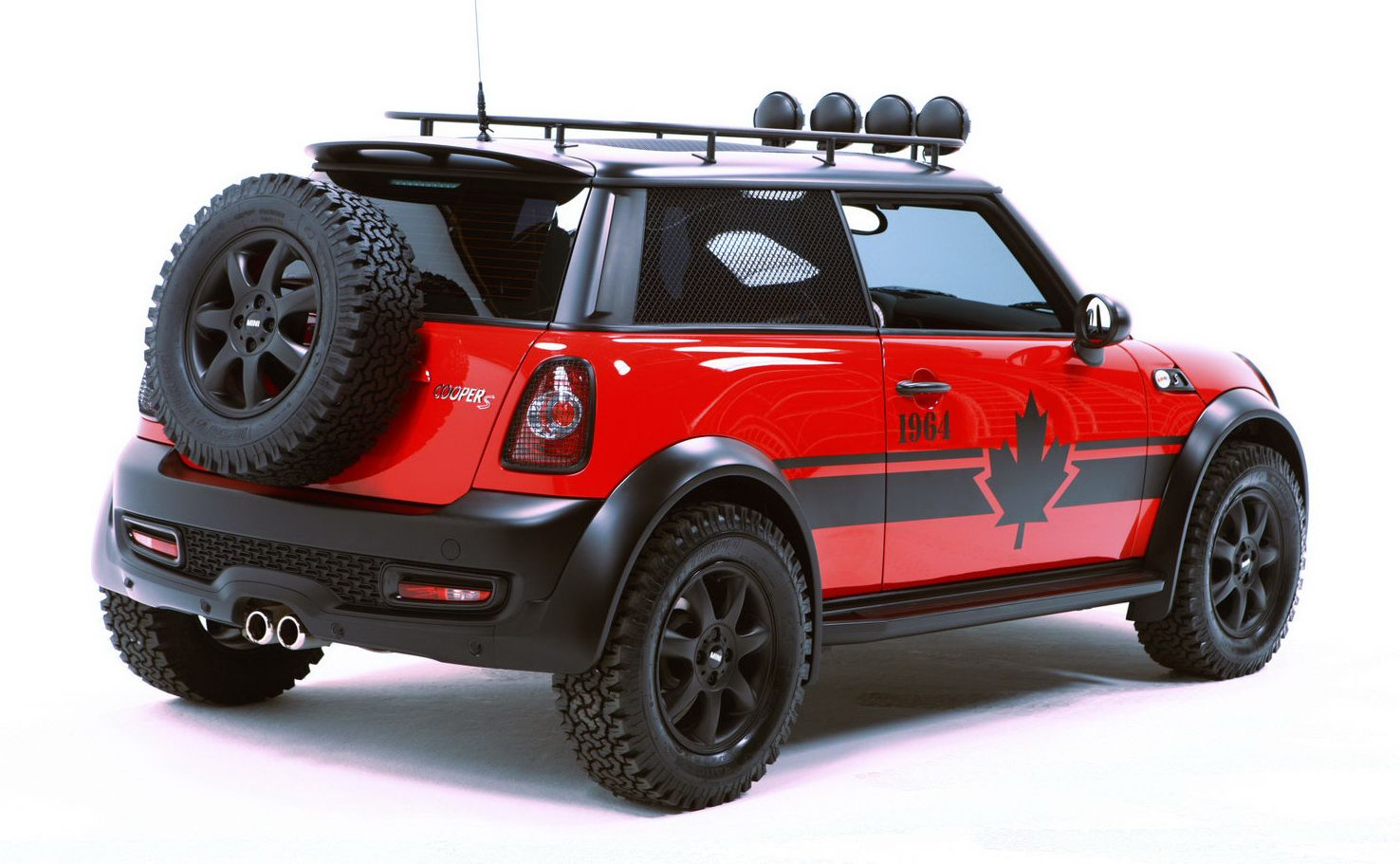 mini cooper dsquared red mudder only good in canada. Black Bedroom Furniture Sets. Home Design Ideas