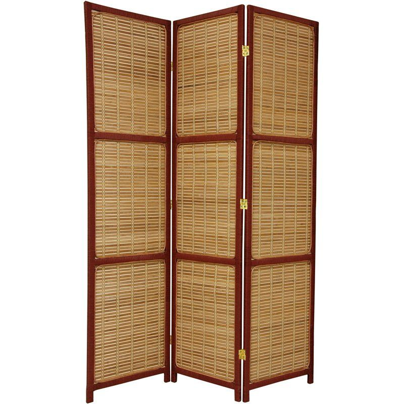 Oriental Furniture 6 ft Tall Woven Accent Room Divider 3 Panel