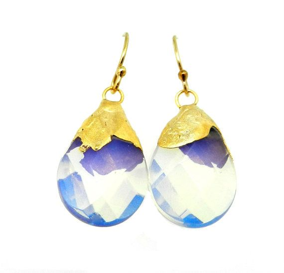 Opalite earrings - Gold dipped by jennleedesign