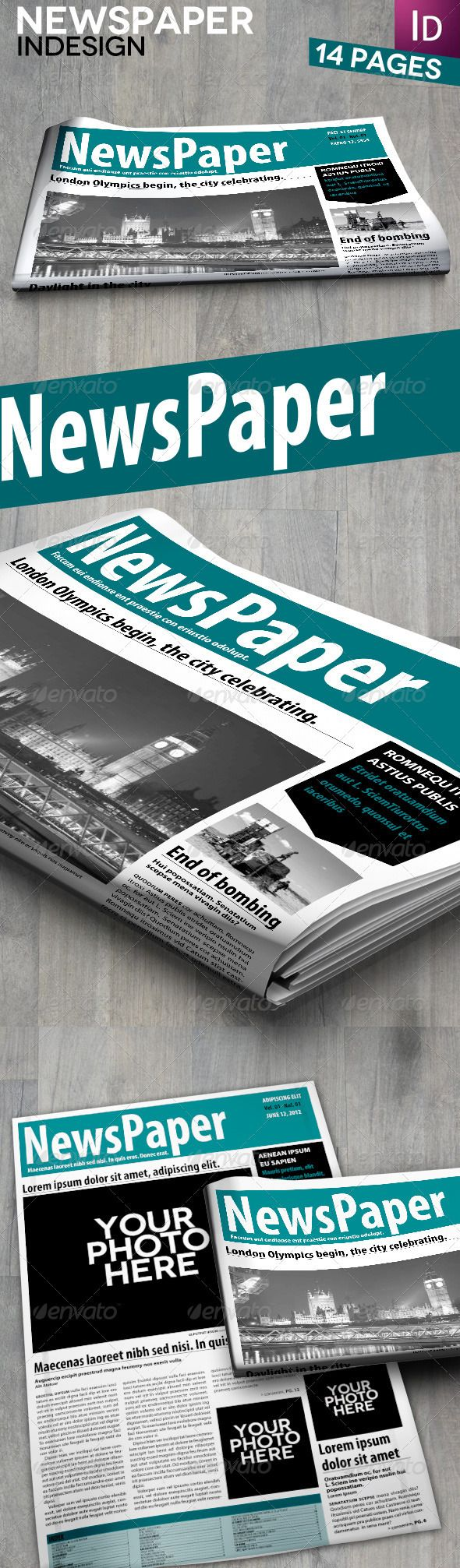 Indesign newspaper 14 pages print templates newsletter newsletters is it a more personal touch to have them mailed out does print pronofoot35fo Image collections