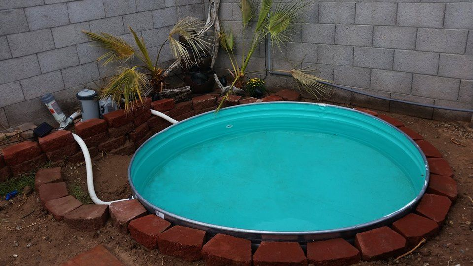 Rented An Excavator From Home Depot And Buried This Stock Tank In My Yard The Tank Was About 400 All To Stock Tank Stock Tank Swimming Pool Diy Stock Tank
