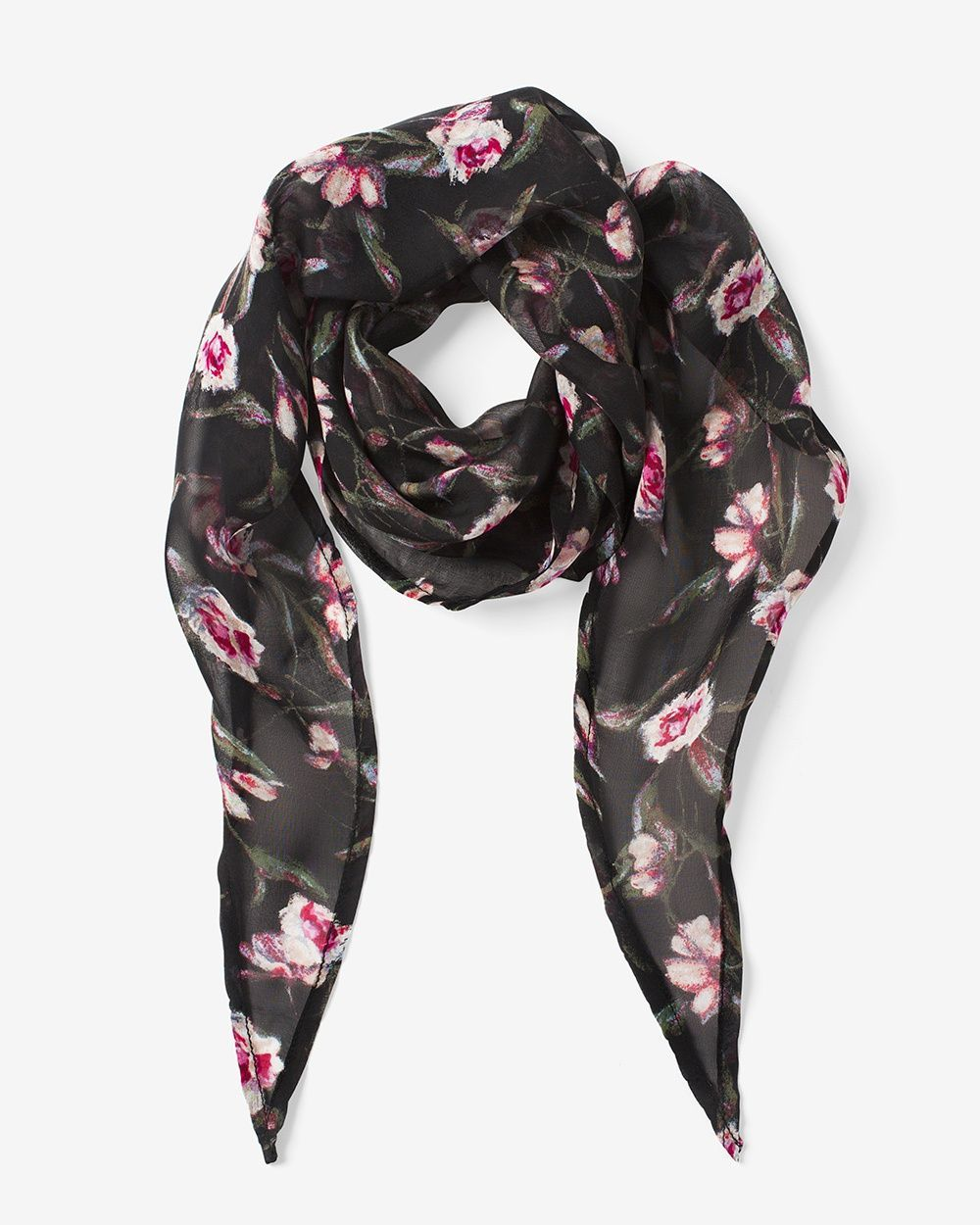 800af800835 Women's Silk Floral Square Mini Scarf by WHBM | Products | Floral ...