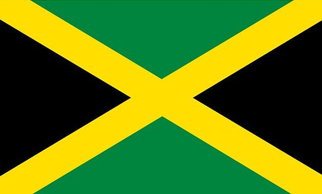 Colors of the Jamaican flag Places to go Pinterest