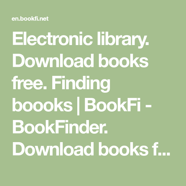 Free download bookfinder ebook