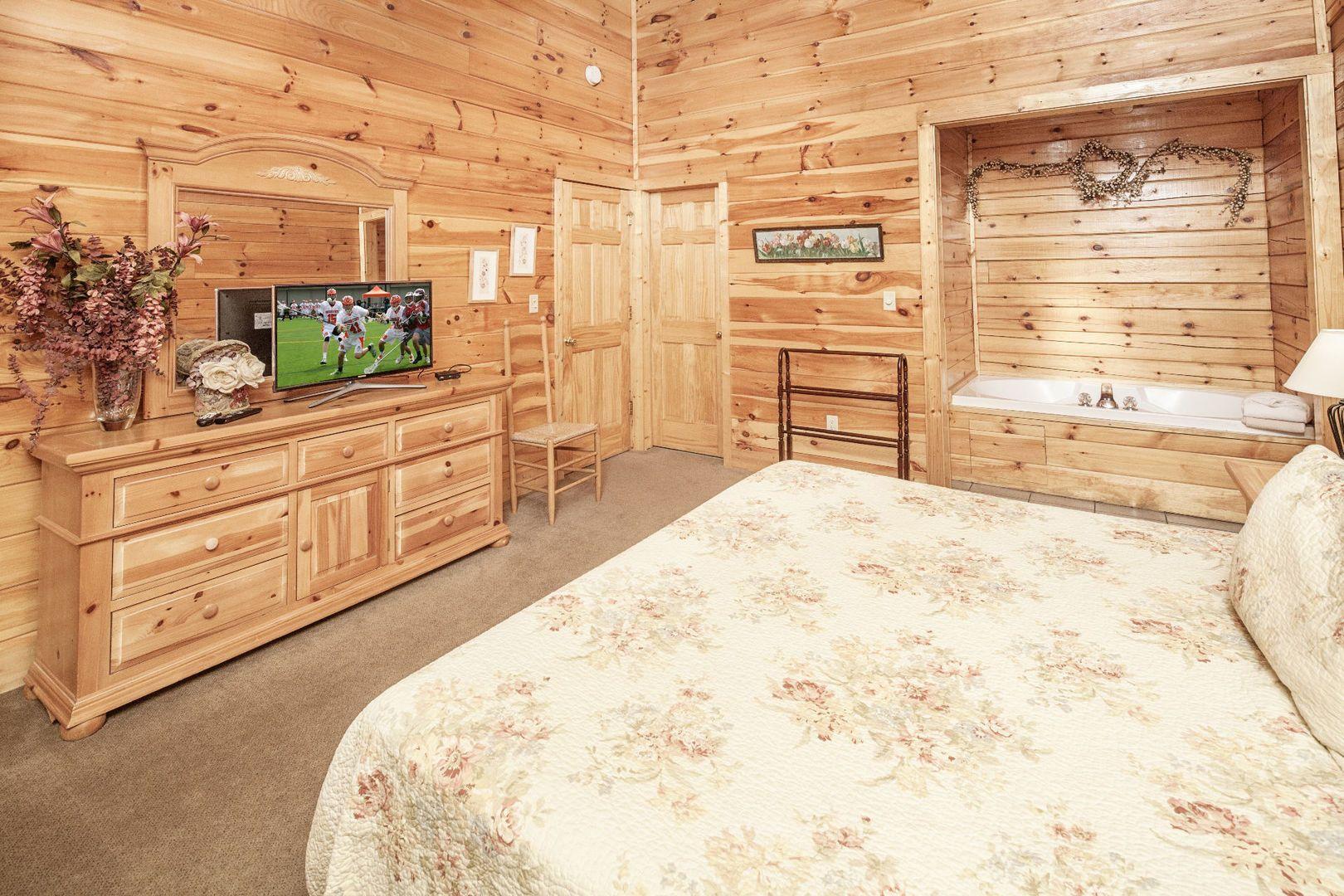 Master bedroom jacuzzi designs  Chanticleer  In the master bedroom youull find a bedside Jacuzzi
