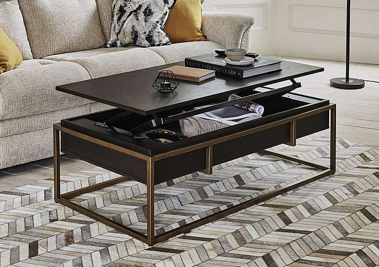 Vogue Coffee Table Gold Furniture Table Lift Up Coffee Table