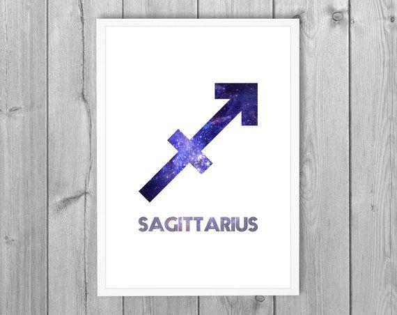 Sagittarius Zodiac Star Sign Horoscope Symbol By Lochnessstudio