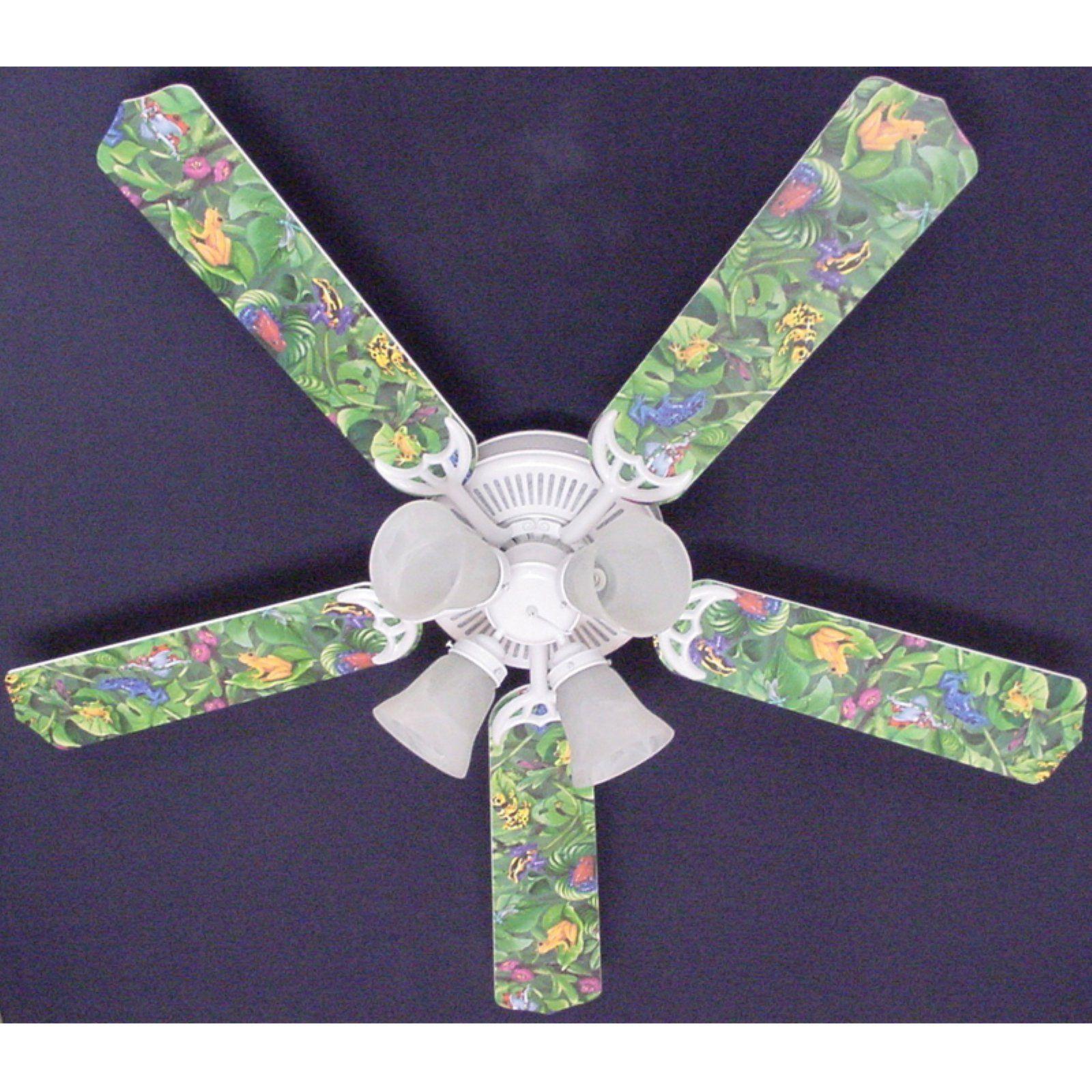 Ceiling Fan Designers Tropical Rainforest Frogs Frog Indoor Ceiling Fan Ceiling Fan Ceiling Fan Light Kit Rainforest Frog